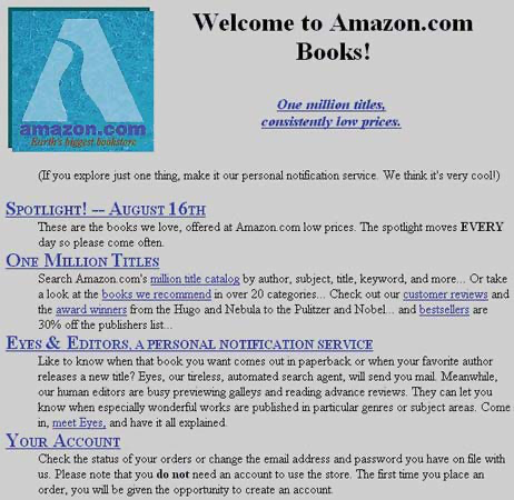 Amazon Kitap Magazasi 1995