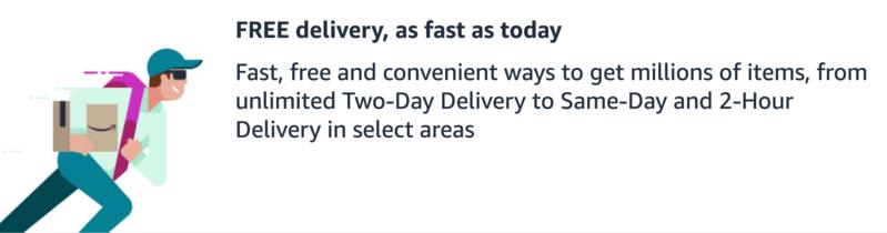 Amazon Prime Ücretsiz Teslimat